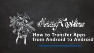 How to Transfer Apps from Android to Another Android