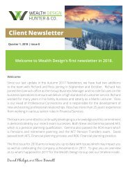 Quarter 1 2018 | Issue 8  Client Newsletter