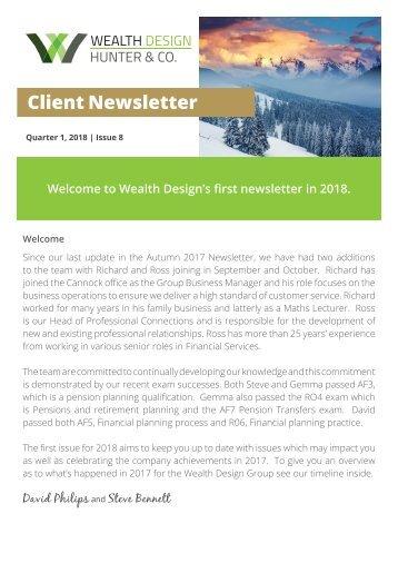 Quarter 1 2018   Issue 8  Client Newsletter