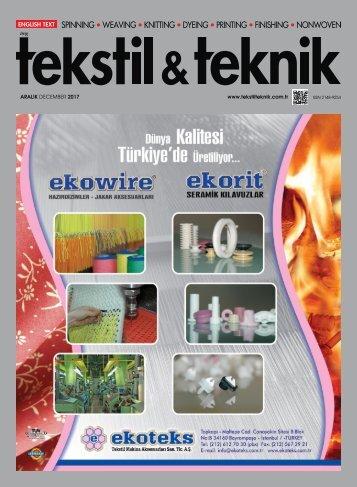 Tekstil Teknik Dergisi Aralık 2017 Sayısı
