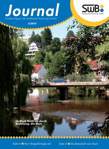Journal - Stadtwerke Backnang GmbH