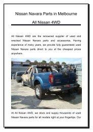 Nissan Navara Parts | All Nissan 4WD