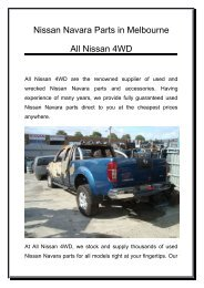 Nissan Navara Parts | All Nissan 4WD