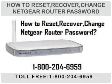 18442003971 How to Reset,Recover,Change Netgear Router Password