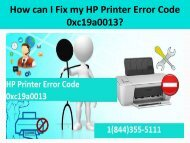 1(800)576-9647 Fix HP Printer Error Code 0xc19a0013 Code