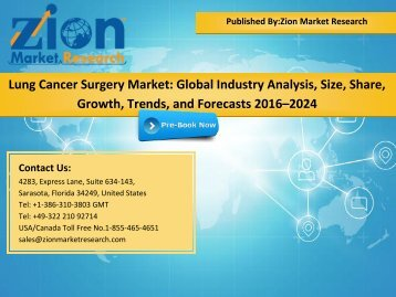 Global Lung Cancer Surgery Market, 2016–2024