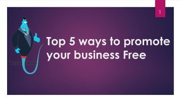 Top 5 ways to promote your business