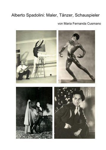 Alberto Spadolini Maler, Tänzer, Schauspieler