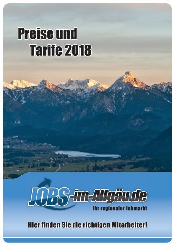 Mediadaten Jobs-im-Allgäu.de