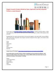Asia-Pacific Organic Cosmetic Products market