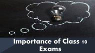 Importance of class 10