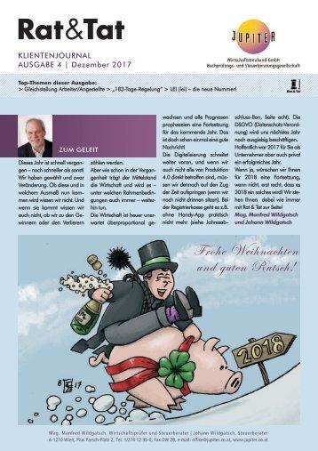 Rat & Tat - Klienten-Info / Ausgabe 4/2017