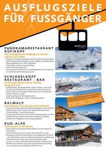 Ausflugziele für Fußgänger_Bergrestaurants Lech
