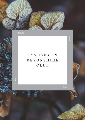 January 2018 in Devonshire Club
