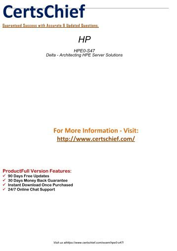 HPE0-S47 Preparation Guides