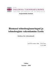 Soojustehnika instituut Biomassi ... - bioenergybaltic