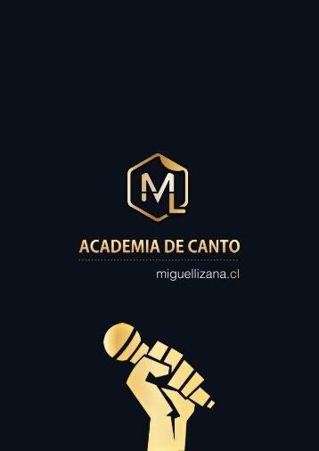 Academia de Canto Miguel Lizana Admision 2018