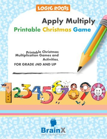 Colorful Printable Christmas Multiplication Game APPLY MULTIPLY
