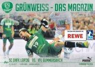 Grünweiss- das Magazin des SC DHfK Leipzig - SC DHfK vs. VfL Gummersbach