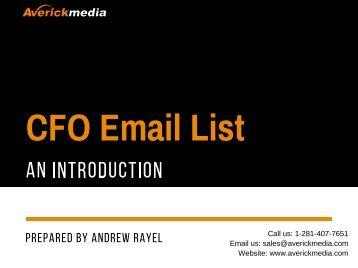 CFO Email List