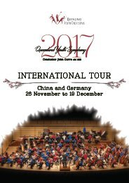 Queensland Youth Symphony 2017 International Tour Program