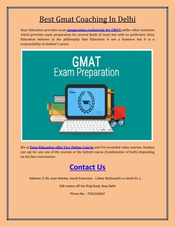 Best Gmat Coaching In Delhi