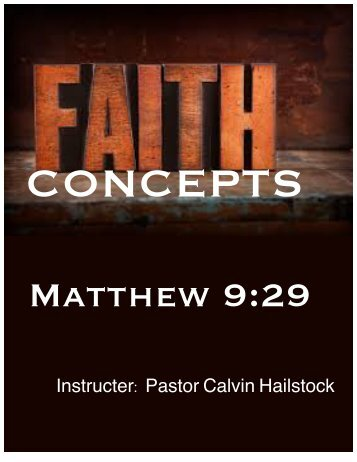 FAITH DEVELOPMENT (Workbook)