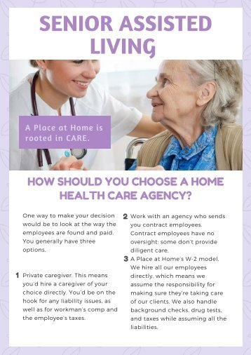 Useful Options to Choose Health Care Agency - Senior Assisted Living
