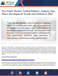 Fire Truck Market- Global Industry Analysis, Size, Share, Development Trends and Outlook to 2022