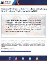 Conveyor Systems Market 2017- Global Sales, Scope,   New Trends and Production Value to 2022