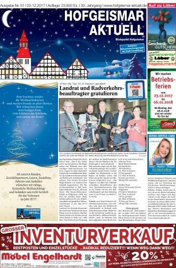 Hofgeismar Aktuell 2017 KW 51