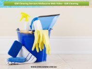 GSR Cleaning Services Melbourne Web Video - GSR Cleaning