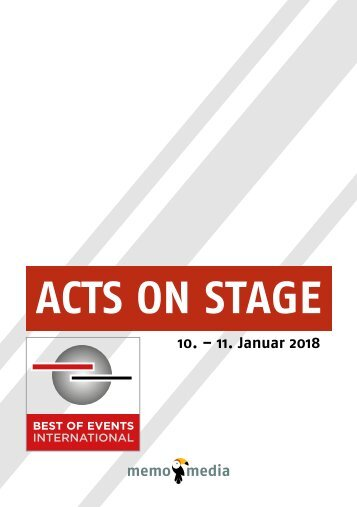 Acts on Stage Programm 2018