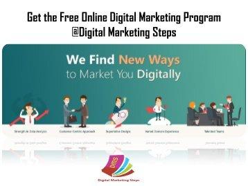 Get the Free Online Digital Marketing Program at DMS