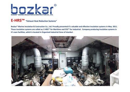 Presentation of Bozkar® Marine Insulation & Cons. Co., Ltd..2018