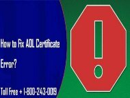 How To Fix AOL Certificate Error? 1-800-243-0019 For Help
