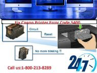 Fix Canon Printer Error Code 5400 by 1-800-213-8289