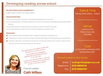 Developing reading across school