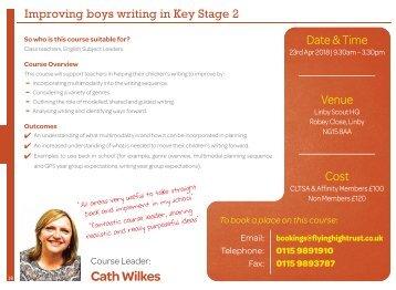 Improving boys writing in KS2