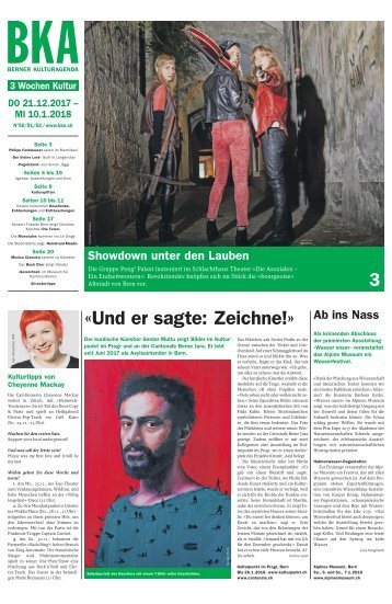 Berner Kulturagenda 2017 N° 50-52