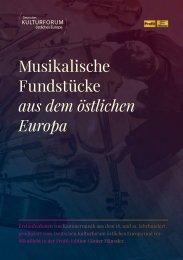 Musikalische Fundstücke aus dem östlichen Europa