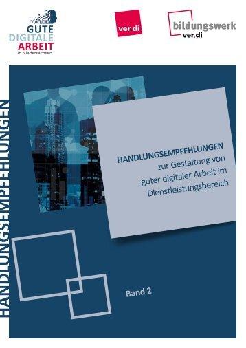 Handlungsempfehlungen zur Gestaltung von guter digitaler Arbeit im Dienstleistungsbereich