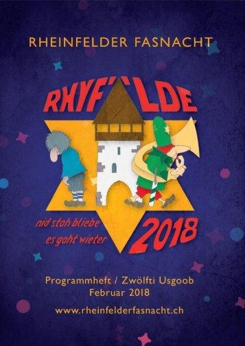 Fasnachtbroschüre 2018