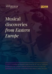 Musical discoveries from Eastern Europe