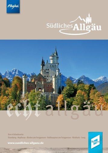 Gastgeberverzeichnis Südliches Allgäu 2018