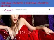 The real charm and beauty of the chennai escorts girls