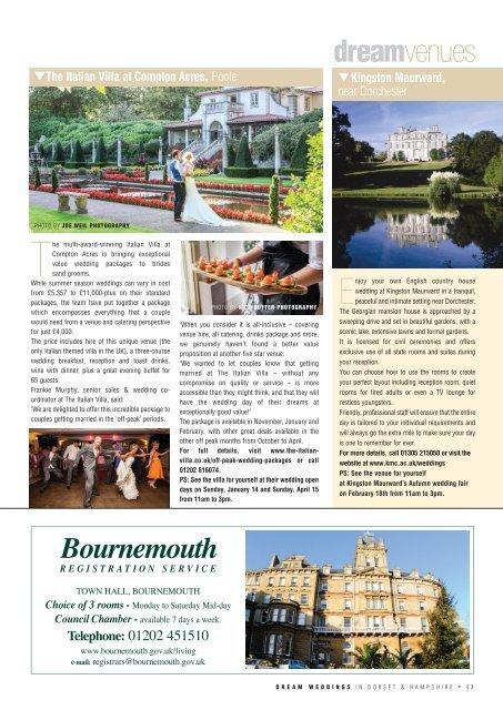 Dream Weddings Magazine - Dorset & Hampshire - issue.37