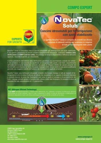 Volantino concimi idrosolubili NovaTec ® Solub - COMPO EXPERT