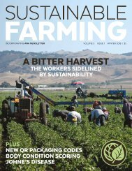 Sustainable Farming Magazine - Volume 3, Issue 1, Winter 2018