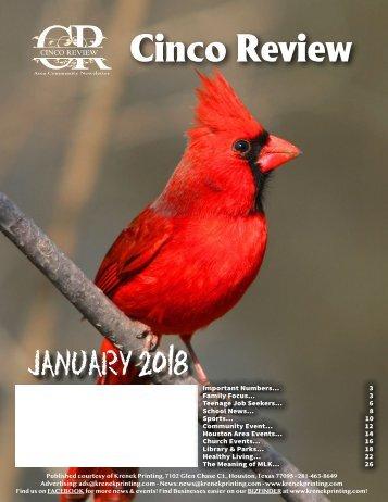 Cinco Ranch 2 January 2018